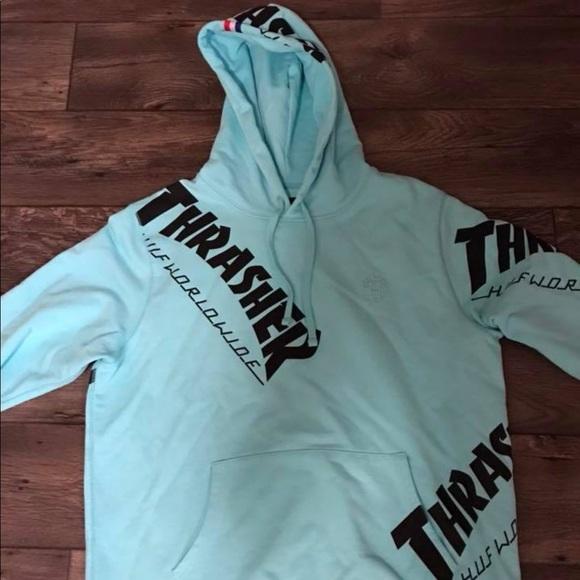 Thrasher HUF collab hooded sweatshirt